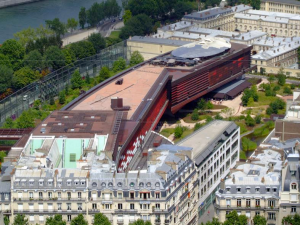 Photo aérienne du musée du quai Branly
