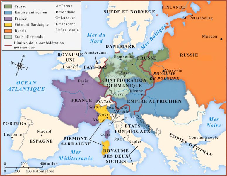 Carte du Congres de Vienne