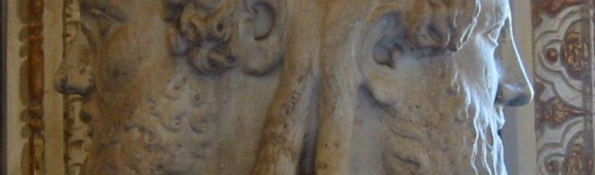 Le dieu Janus a deux visages : l'un regard en arrière, vers le passé, l'autre regarde vers l'avant, vers l'avenir.