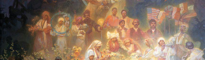 Mucha conçoit son projet de la fresque monumentale de l'Épopée Slave entre 1899 et 1900 comme