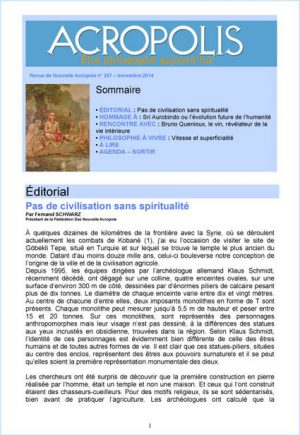 Revue Acropolis n°257