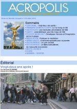 Première de couverture de la Revue Acropolis n°276