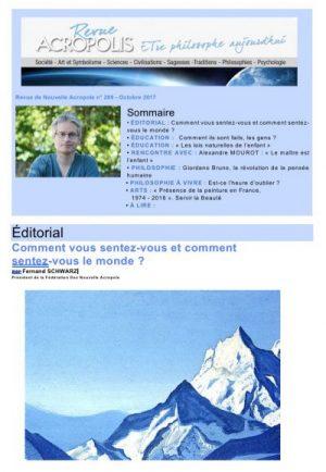 Revue Acropolis n°289