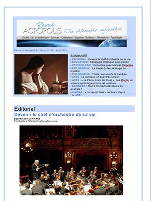 Première de couverture de la Revue Acropolis n°295