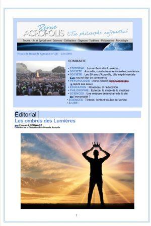 Première de couverture de laRevue Acropolis n°297