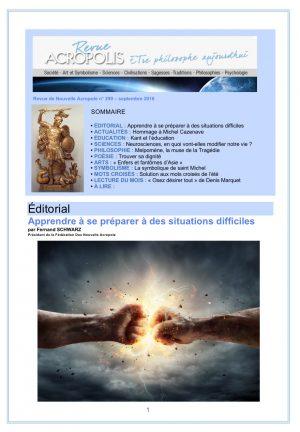 Revue Acropolis n°299
